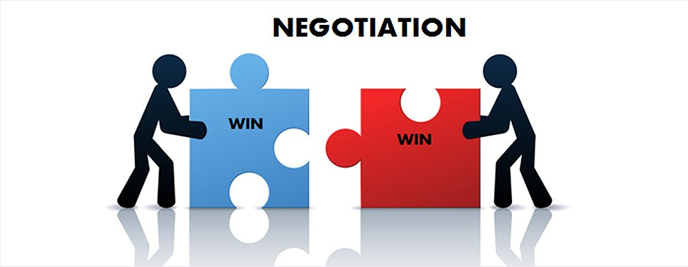 Be patient and negotiate