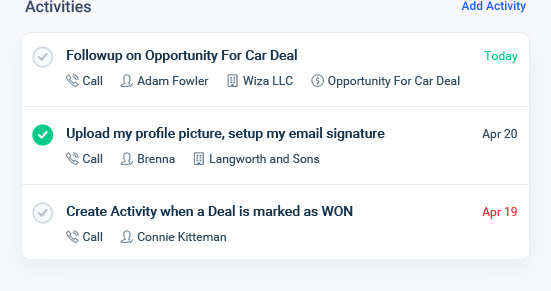 CRM for sales reps