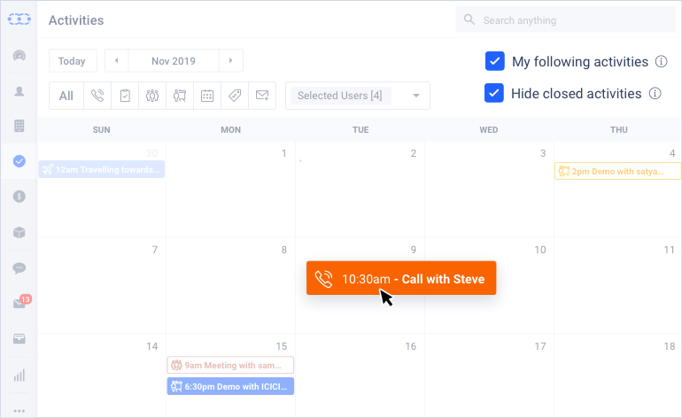 Manage activities more efficiently