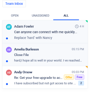team inbox feature screenshot