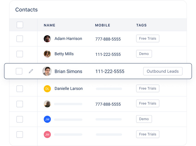 Manage all your contacts in a single place