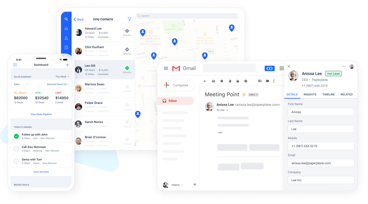 Small Business CRM that works everywhere