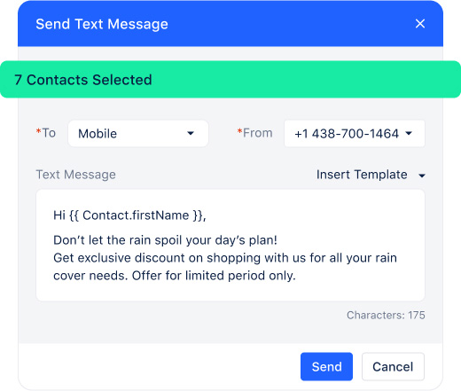 Send promos, reminders, and ask quick questions