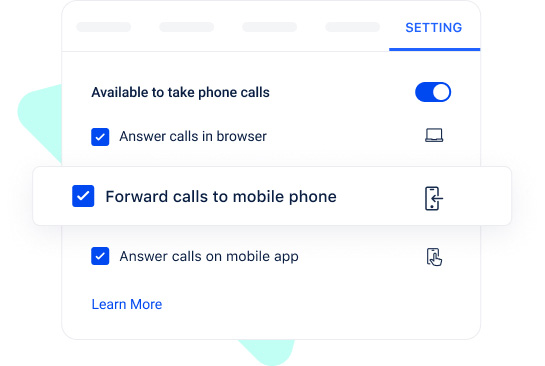 Forward calls seamlessly on your smartphone