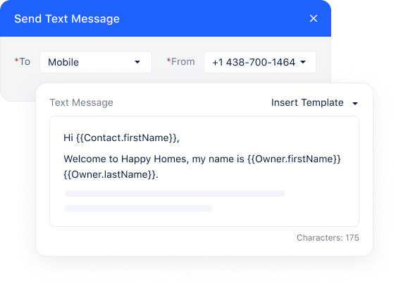 Send personalized texts to all contacts with a single click