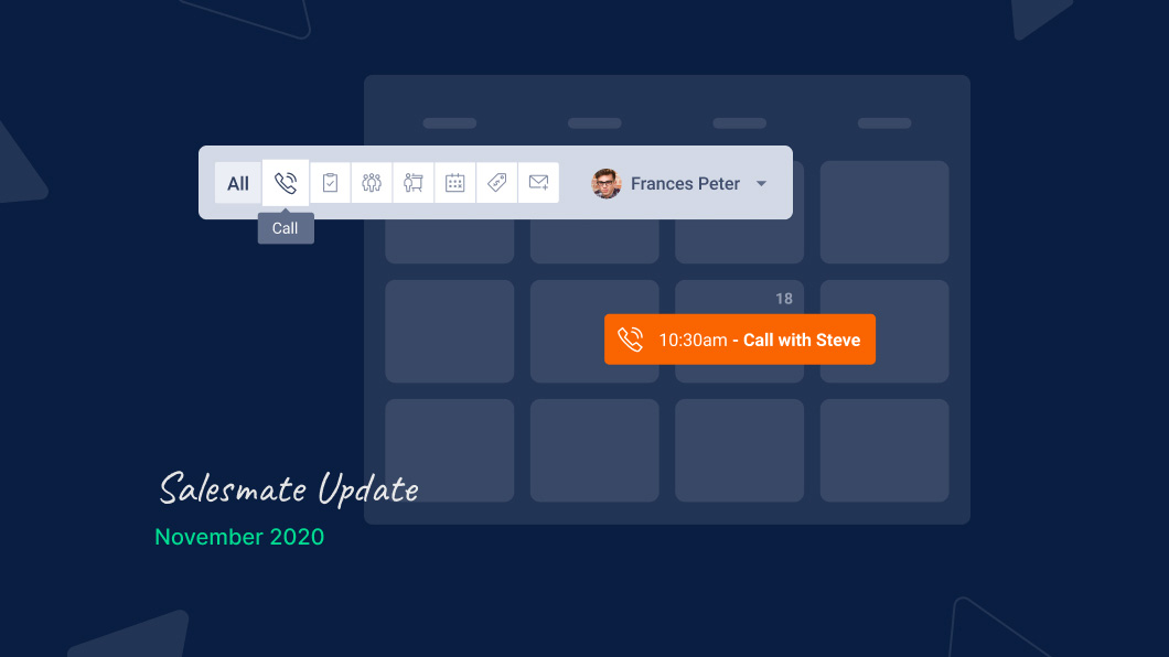 Calendar view in Salesmate to ensure you don't miss a vital task again