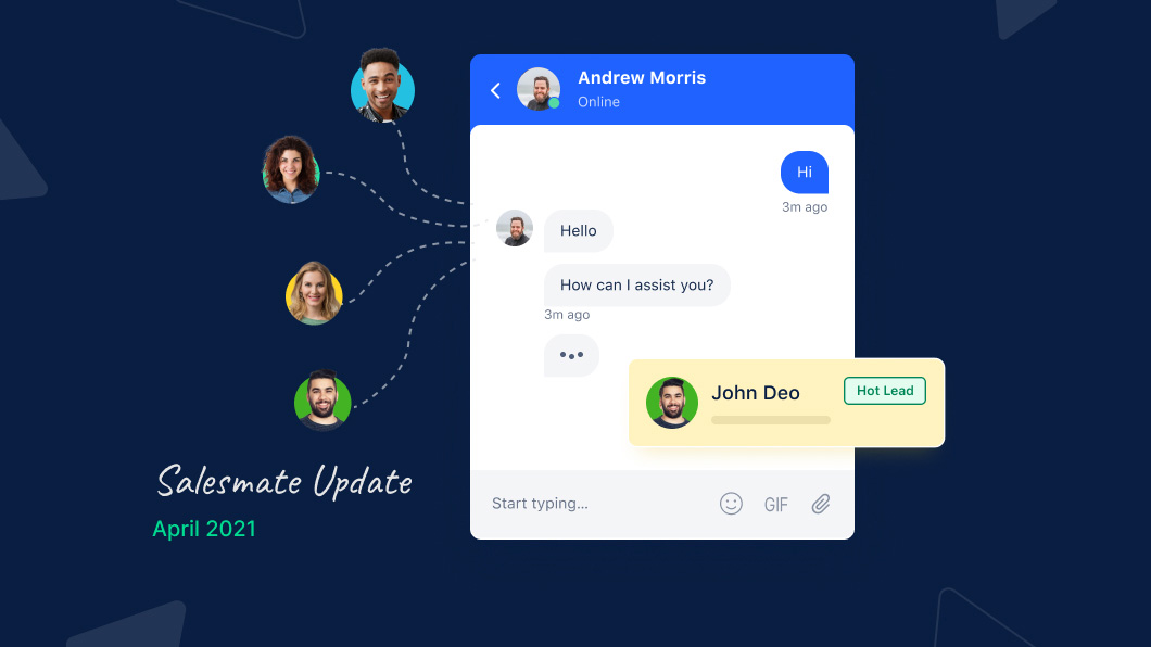 Connect with your visitors in real-time with Salesmate's live chat feature