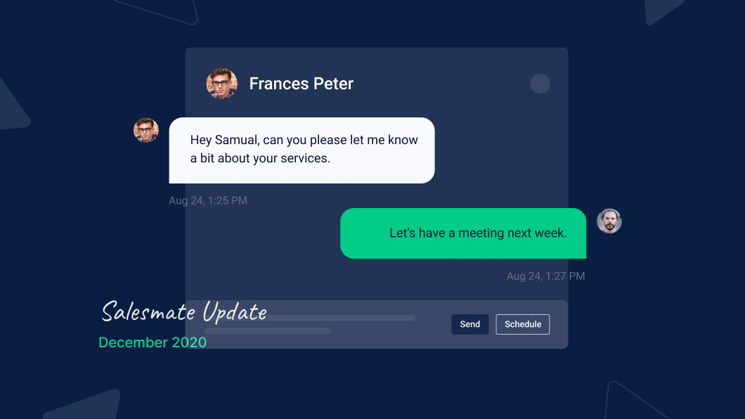 Salesmate upgrades text messages with text conversation view