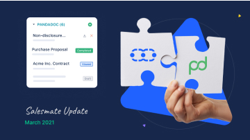 Salesmate + PandaDoc integration: Manage sales proposals with ease