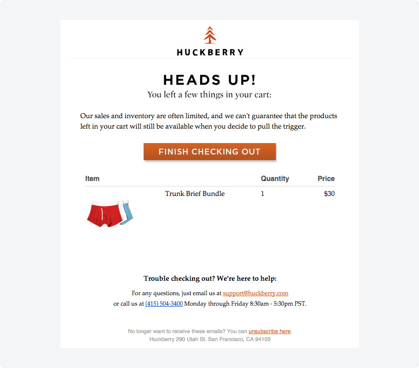 Upselling, cross-selling, abandoned cart emails